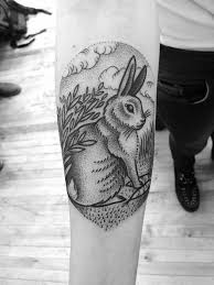 Superb rabbit tattoo cataloge