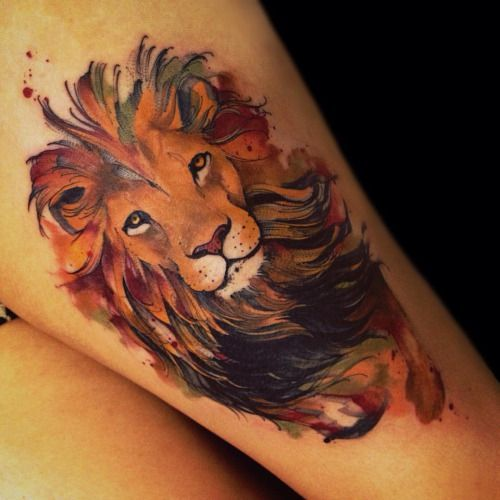 Unique arm lion tattoo design