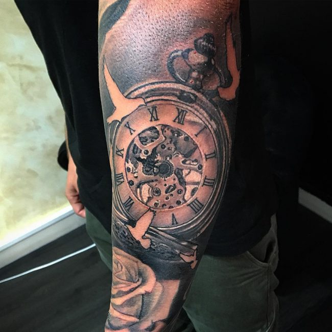 amazing hourglass tattoo cool colorful idea designs