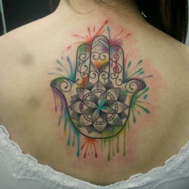 awesome hamsa tattoo @ 62