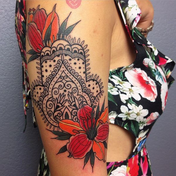 awesome hamsa tattoo @ 678