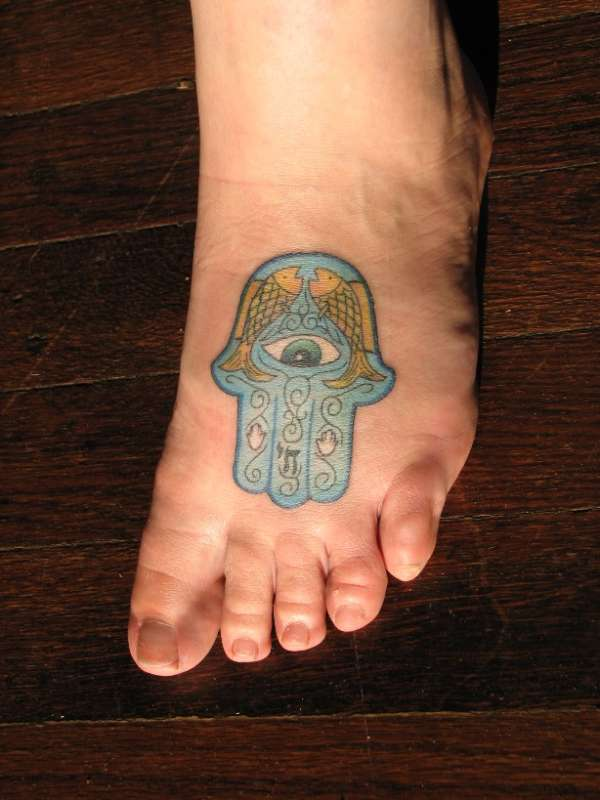 awesome hamsa tattoo @ 679