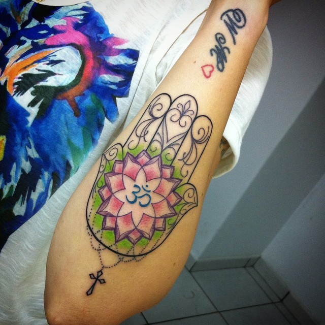 awesome hamsa tattoo @ 68