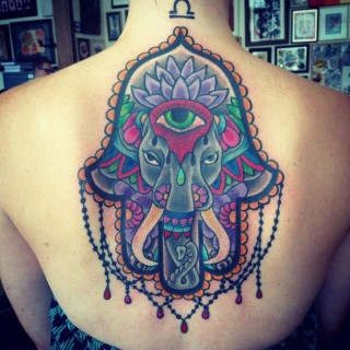 awesome hamsa tattoo @ 693