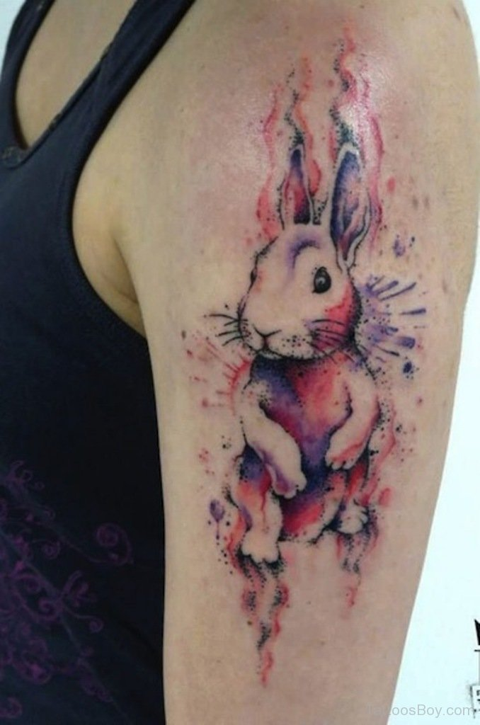 awesome watercolor rabbit tattoo designs diary