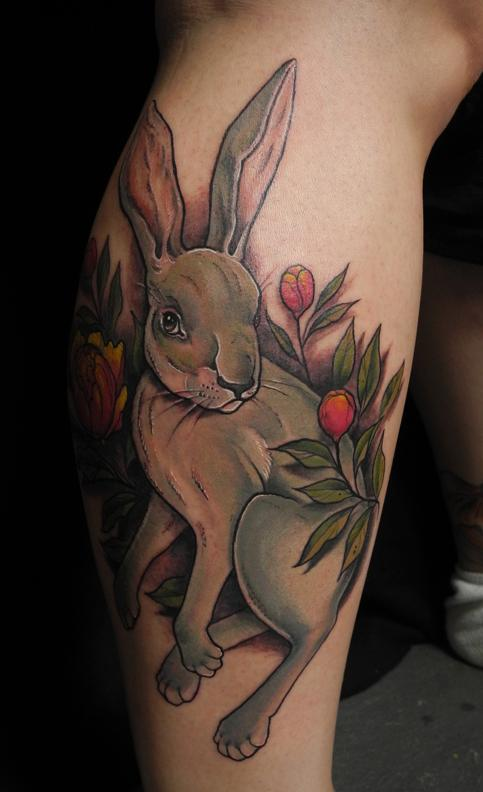 bunny tattoo art & colorful ideas