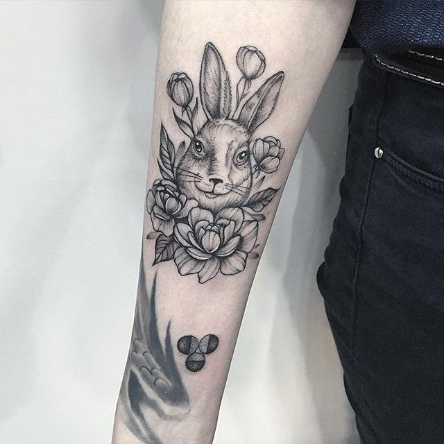 cool rabbit tattoo design &diary