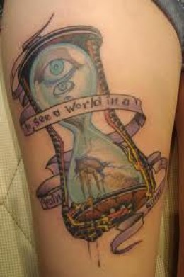 eyecatching hourglass tattoo horny ideas