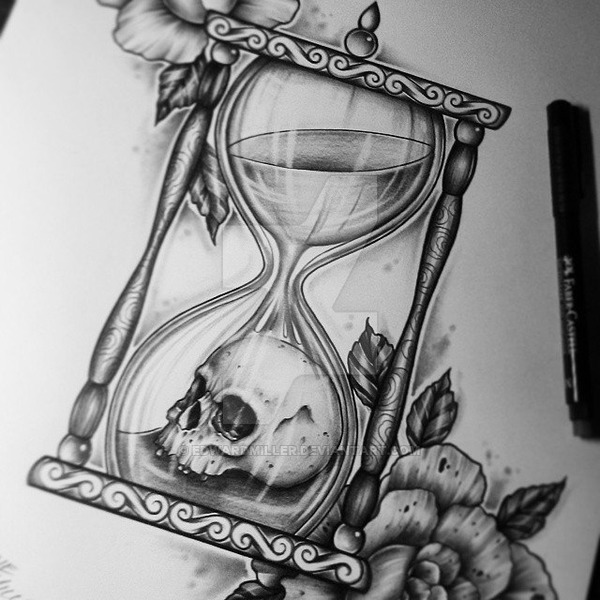fabulous hourglass tattoo ideas for boys