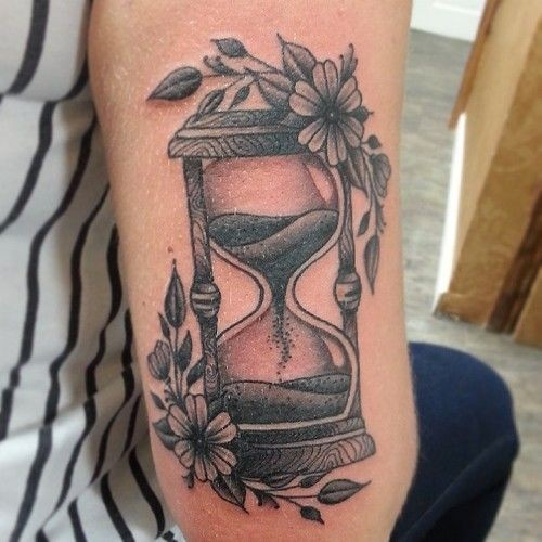 fabulous small tattoo design hourglass