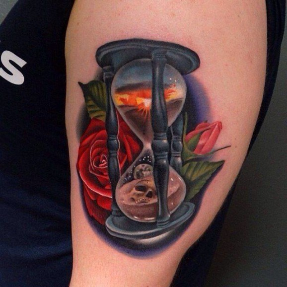 great hourglass tattoo horny ideas