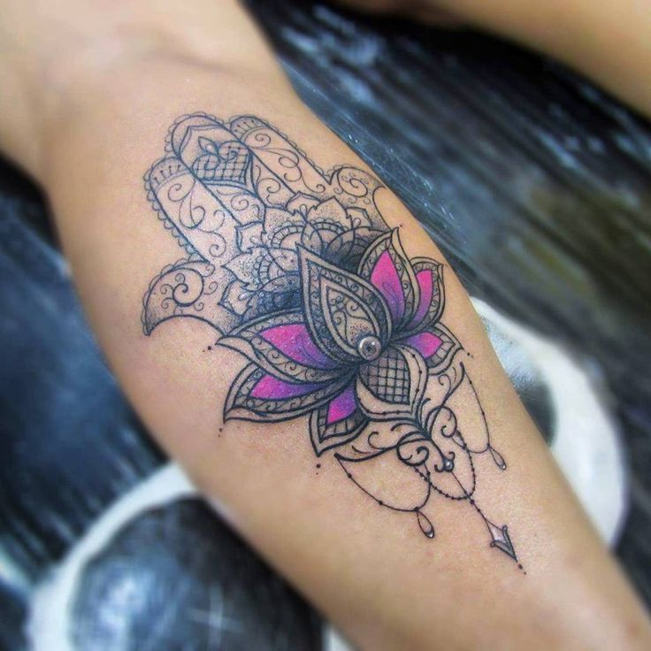 hamsa tattoo on arm @ 36