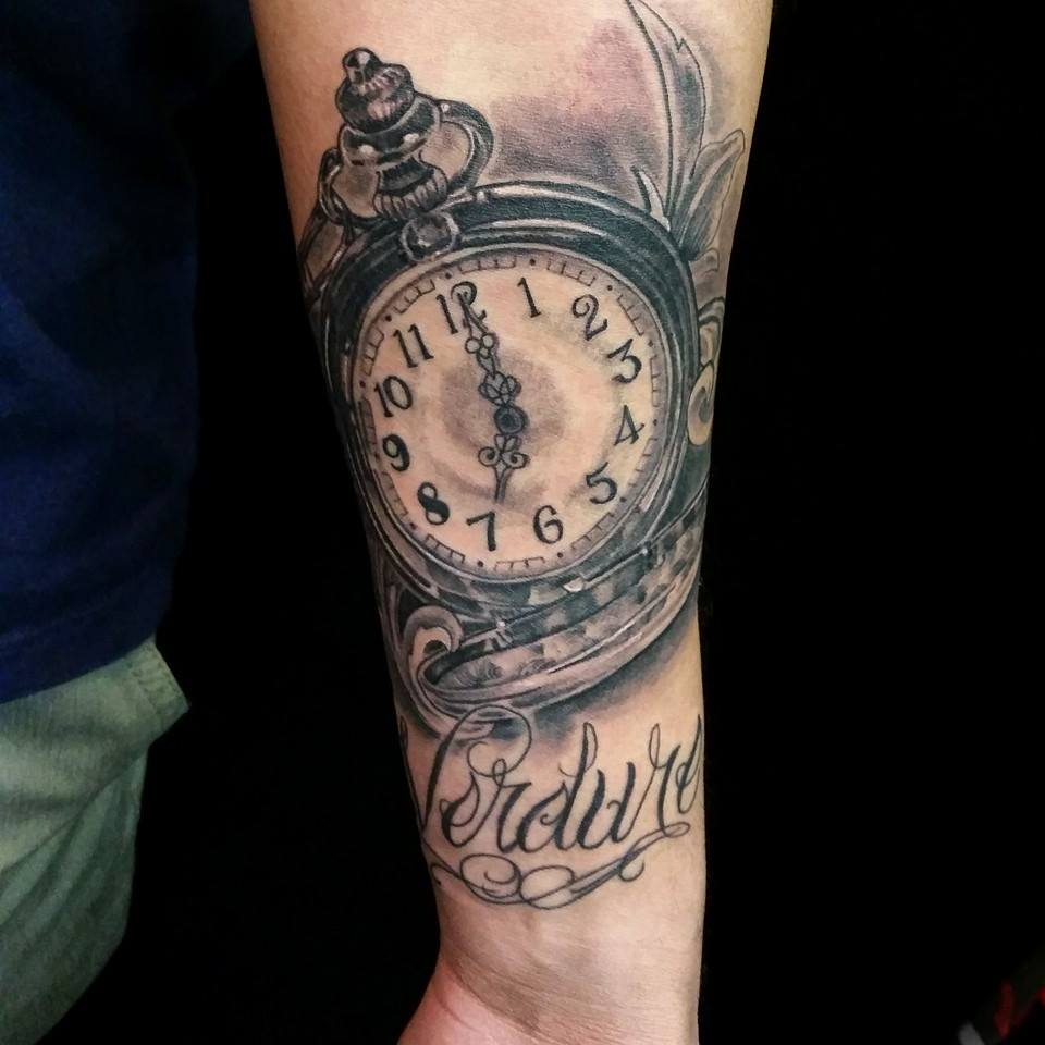 hourglass tattoo cool colorful idea designs on forearm