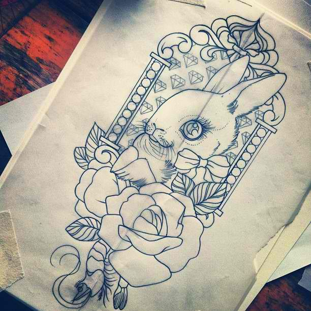 meaningful rabbit tattoo design ideas
