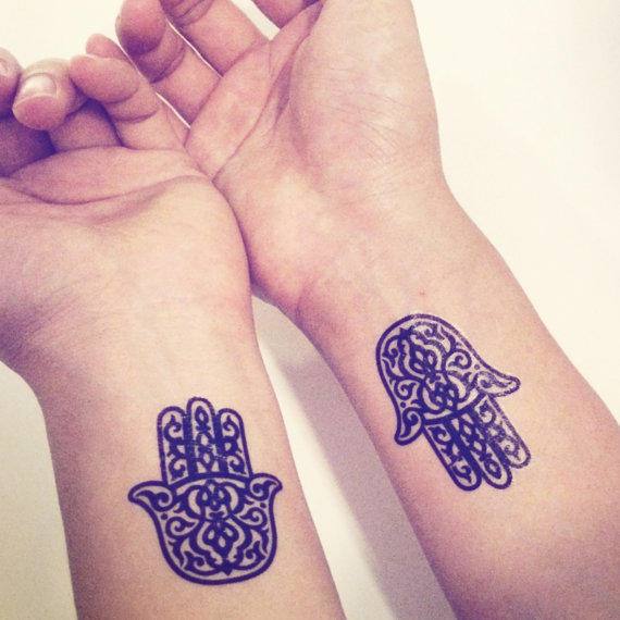 spritual hamsa tattoo on leg @ 39 (2)