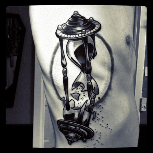 superb black hourglass tattoo horny ideas