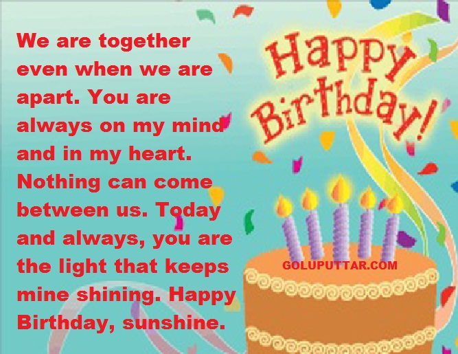 Romantic birthday quotes for girlfriend