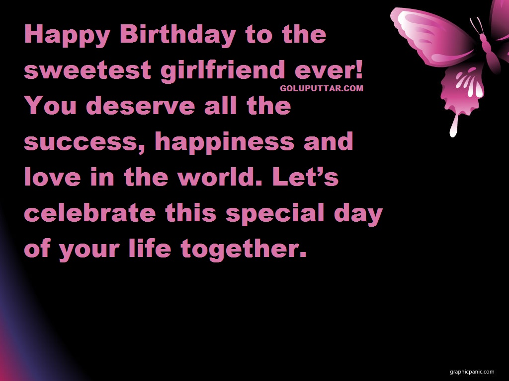 sweet birthday wishesmessages for girlfriend