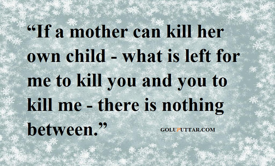 Aborting a child is Like Killing a Unborn