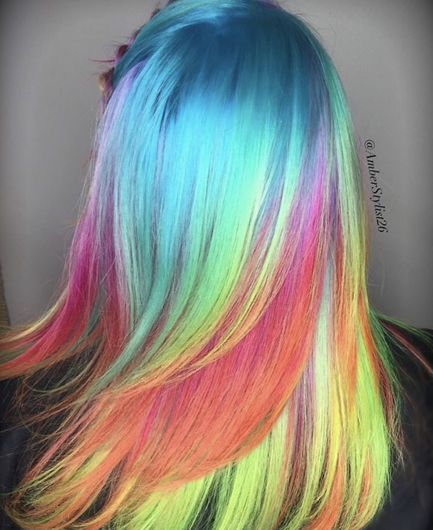 Love for colored hairsyles fgfyfy