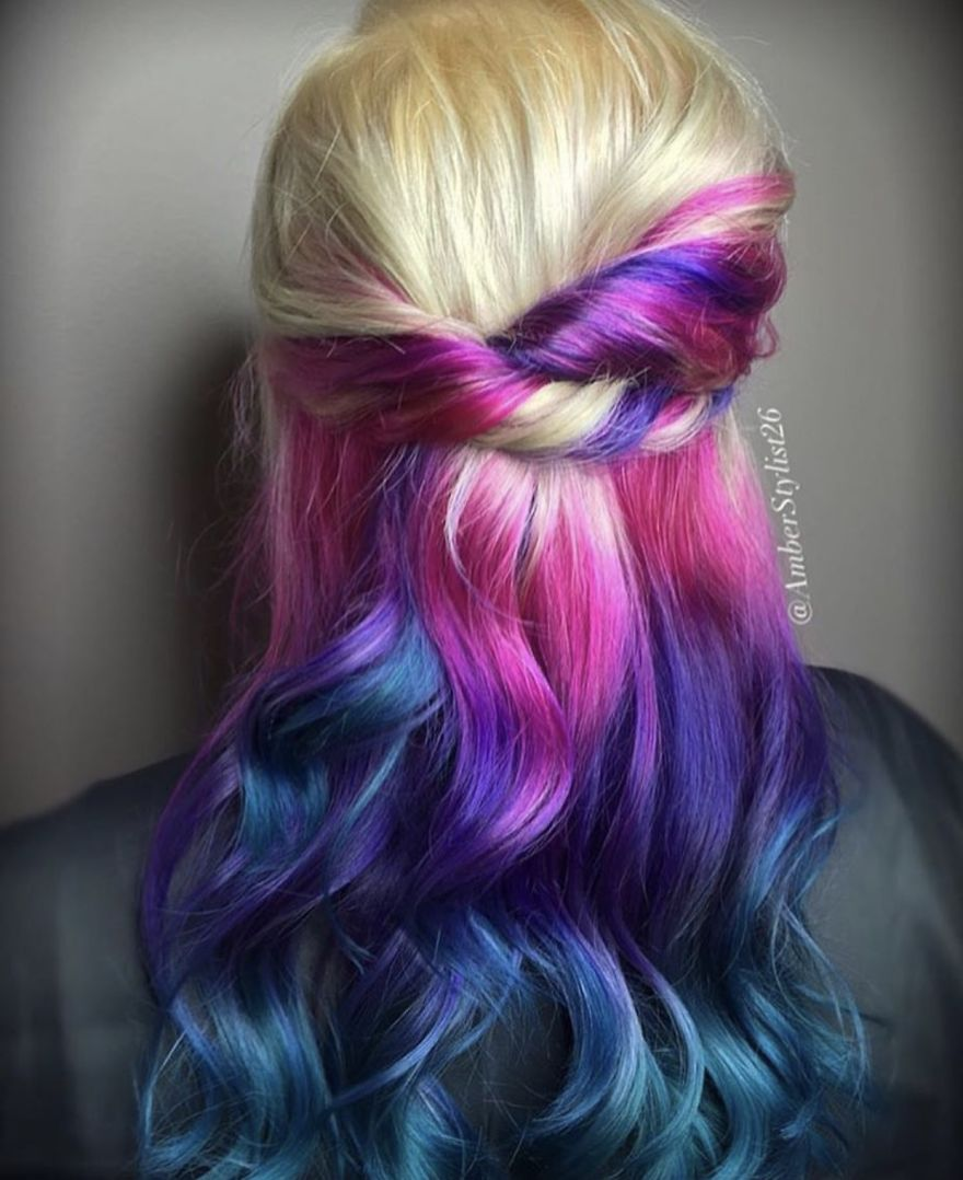 Love for colored hairsyles hghghyt