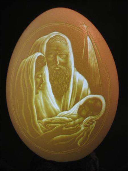 awful painting on eggshell most imaginary