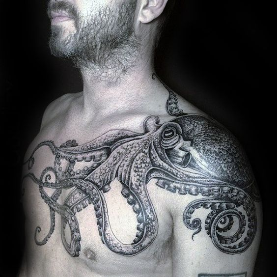 best octopus tattoo linework concepts and ideas