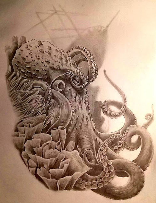 cool octopus tattoo concept and art