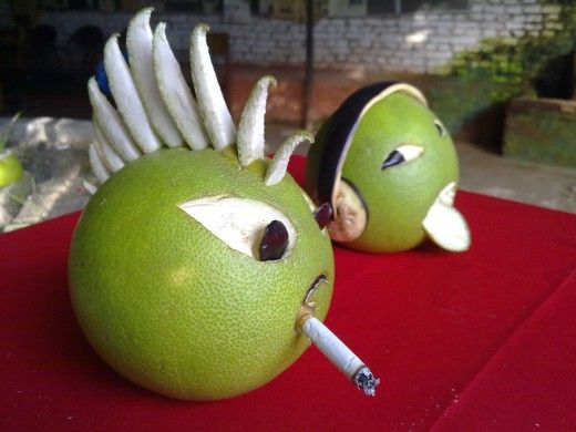 funny fruit and vegetable carving (1)
