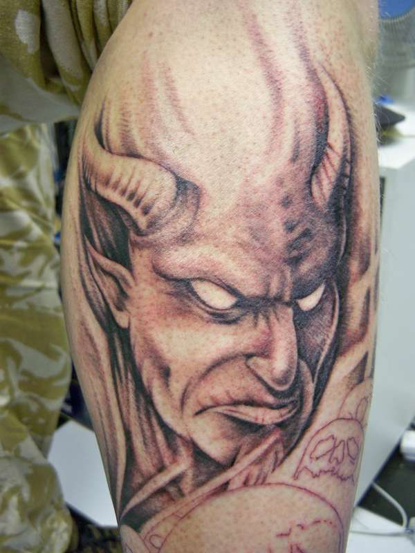 gothic demon tattoo to get scary devil look