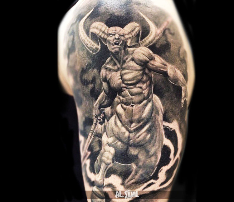 unearthly devil tattoo to get frightened personality