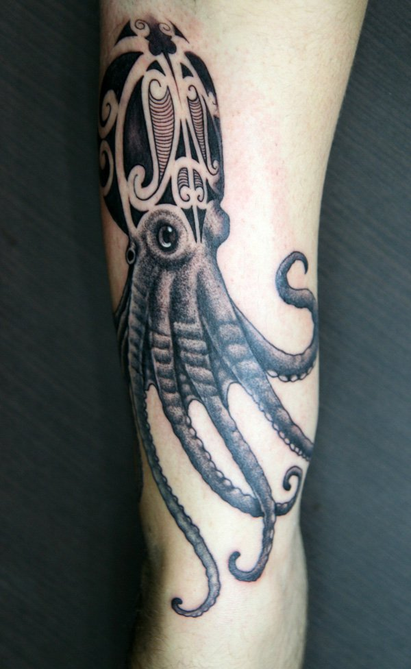 wicked octopus tattoo designs for soft arms