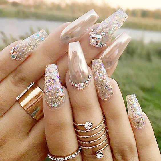 New 61 Glitter Nail Art Ideas To Show Your Swag Photos And Ideas